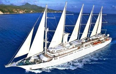 Small ship cruising windstar cruises wind surf sails