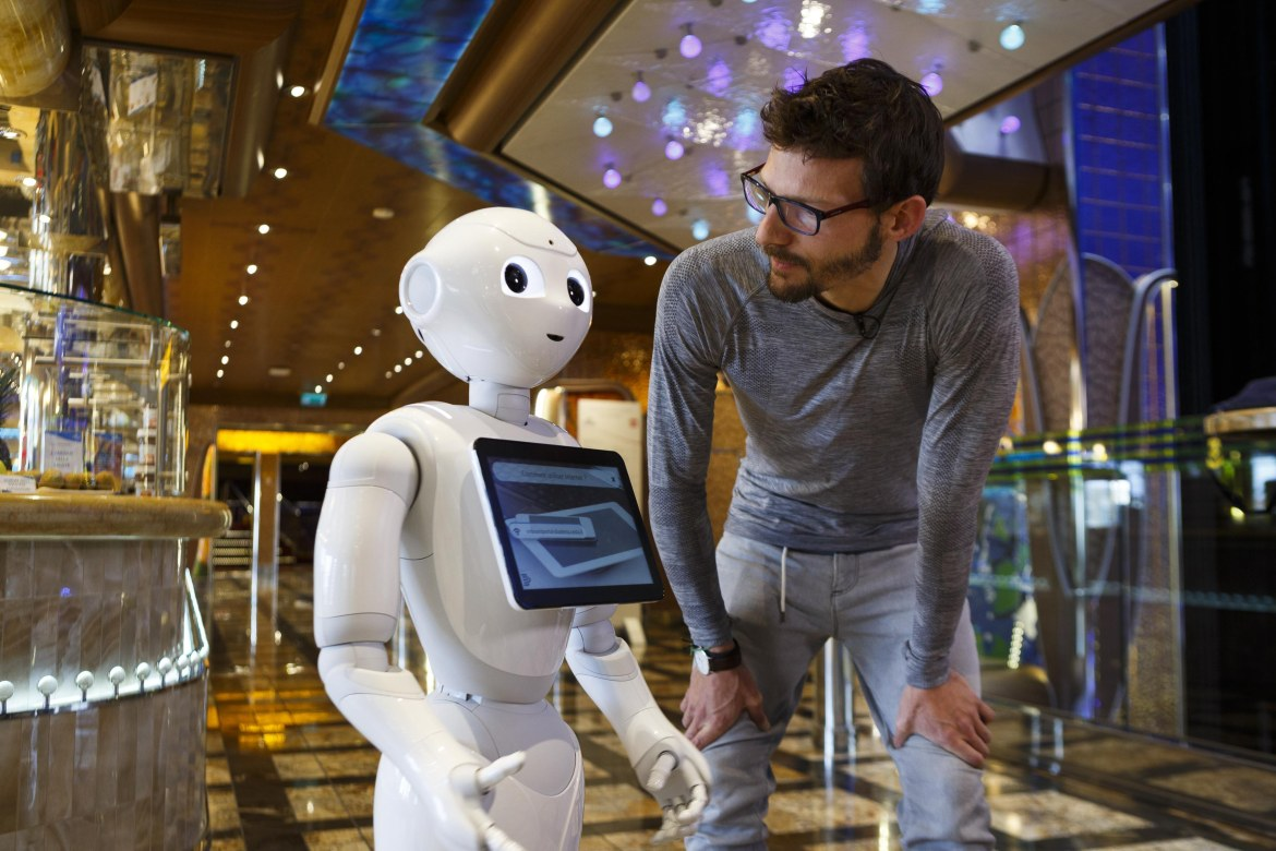 Costa Cruises robot interacts with passengers