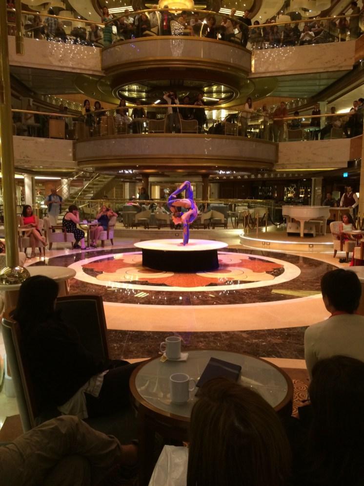 Princess Cruises Regal Princess atrium entertainer