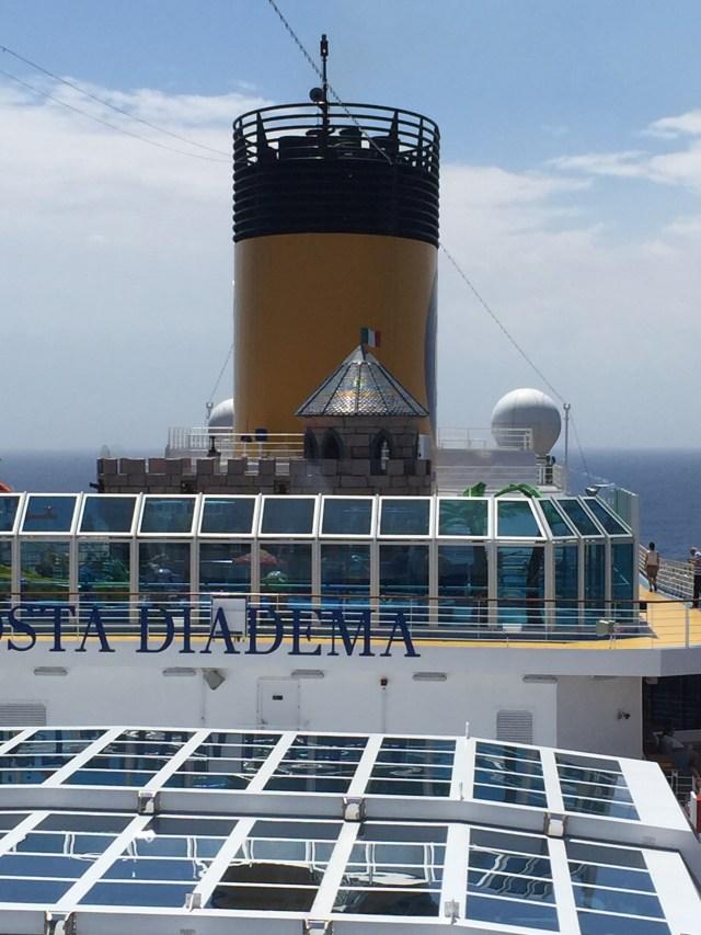 Costa Cruise Diadema cruise ship retractable roof