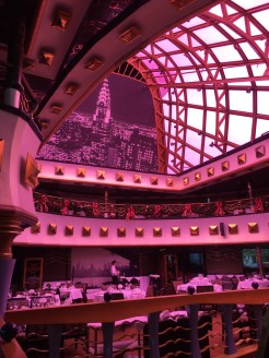 carnival cruises miracle dining room second storey