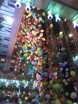 carnival cruises miracle balloon drop in atrium