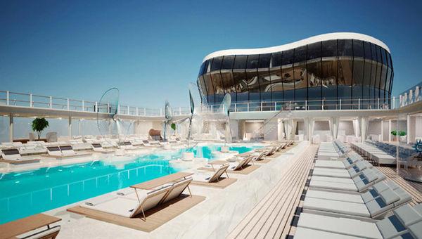 msc meraviglia pool daytime