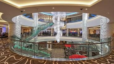 Norwegian Getaway cruise ship atrium