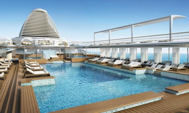 Regent Cruises Explorer cruise ship main pool