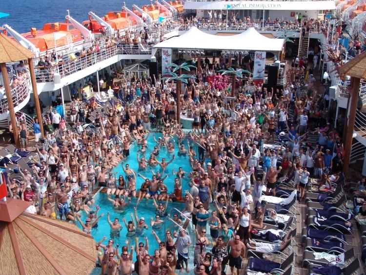 Cruise ship rock concerts main pool