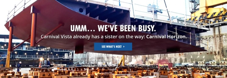 Carnival Cruises Horizon shipyard video