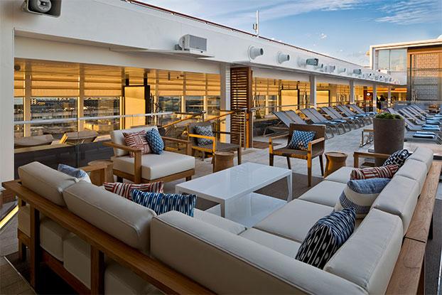 Viking Star cruise ship pool deck seating area