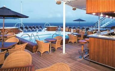 Small ship cruising windstar cruises wind surf pool