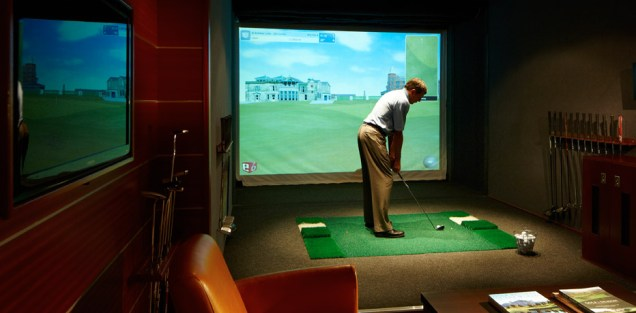 Residensea The World cruise ship golf simulator