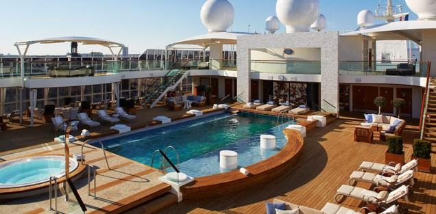 Residensea cruises The World cruise ship main pool