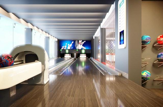 msc meraviglia cruise ship bowling alley