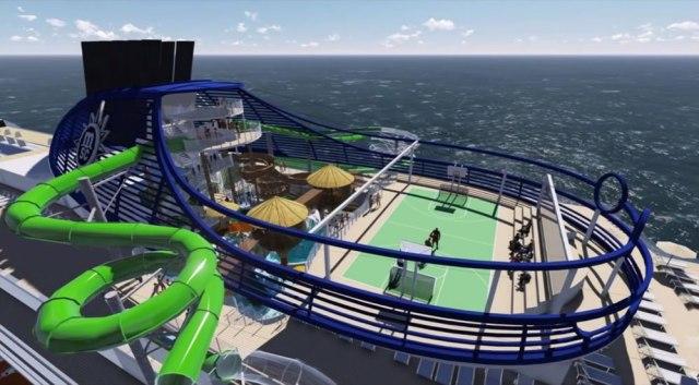 MSC Cruises seaside waterslides