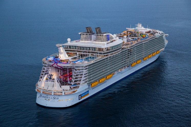 Royal Caribbean Cruises Harmony of the Seas cruise ship aft