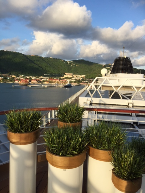 Viking Cruises Viking Star cruise ship retractable dome and planters