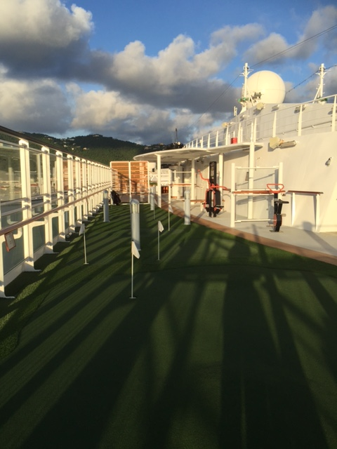 Viking Cruises Viking Star cruise ship top deck golf grass