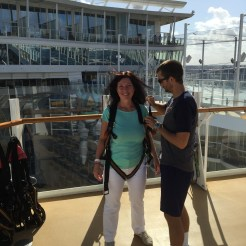 Royal Caribbean Cruises Harmony of the Seas cruise ship Cruiseguru ziplining
