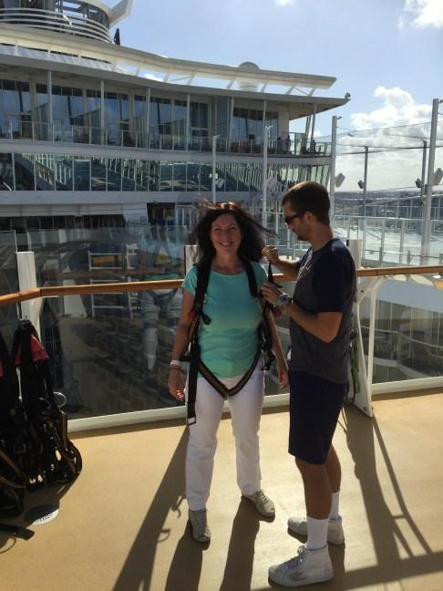 Royal Caribbean Cruises Harmony of the Seas cruise ship Cruiseguru ziplining