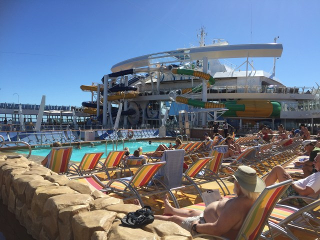 Royal Caribbean Cruises Harmony of the Seas cruise ship pool loungers