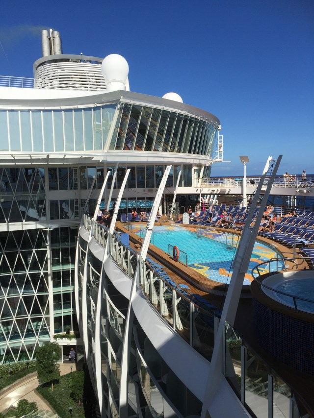Royal Caribbean Cruises Harmony of the Seas cruise ship central park and pool