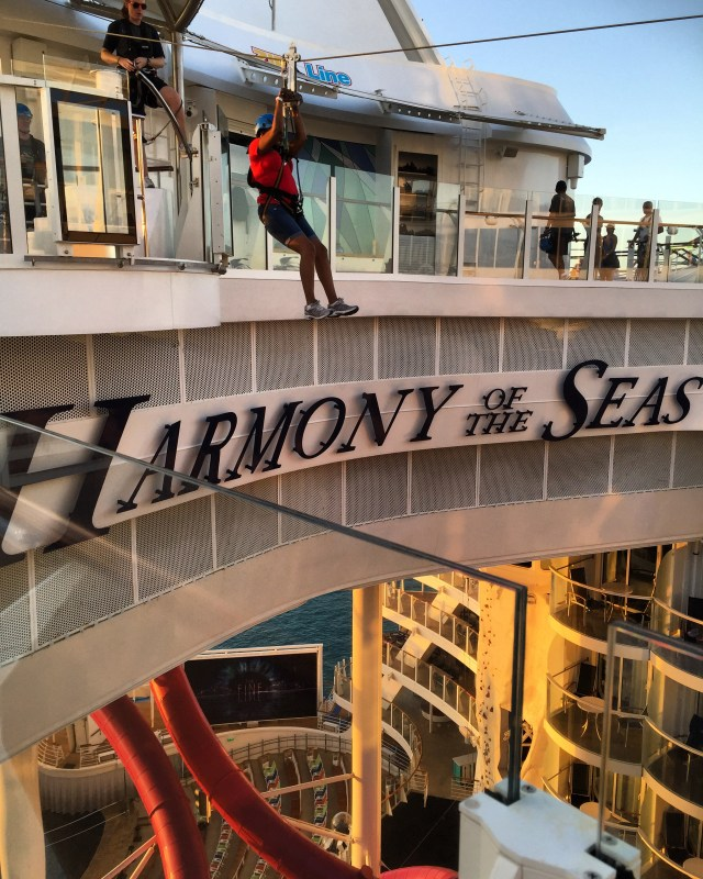 Royal Caribbean Cruises Harmony of the Seas cruise ship ziplining