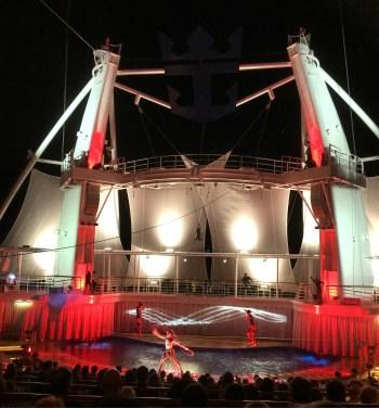 Royal Caribbean Cruises Harmony of the Seas cruise ship theater pool