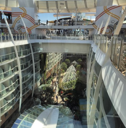 Royal Caribbean Cruises Harmony of the Seas cruise ship central park overview