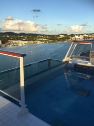 Viking Cruises Viking Star cruise ship aft pool closeup