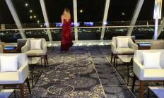 Viking Cruises Viking Star cruise ship Explorers lounge after view