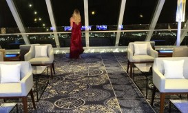 Viking Cruises Viking Star cruise ship Explorers lounge after view