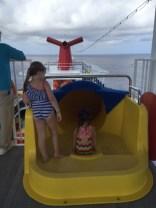 Carnival Cruises Vista cruise ship yellow waterslide