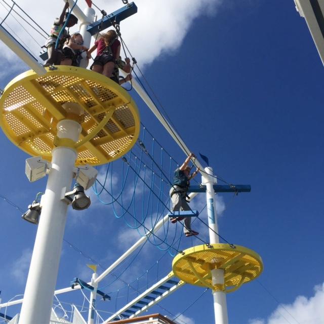 Carnival Cruises Vista cruise ship ropes course