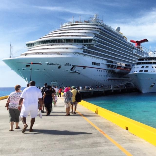 Carnival Cruises Vista cruise ship docked