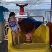 Carnival Cruises Vista cruise ship waterslide entrance