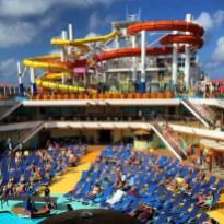 Carnival Cruises Vista cruise ship pool lounge chairs