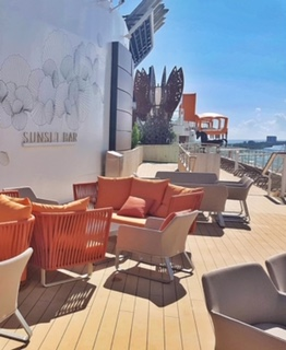 Celebrity cruises edge cruise ship deck chairs