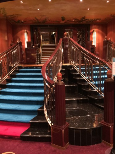 Norwegian Jade dining room staircase