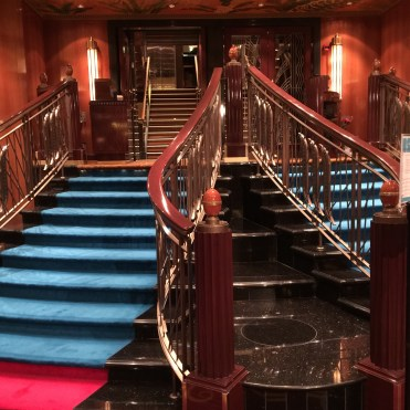 Norwegian cruises Jade cruise ship Norway dining room staircase