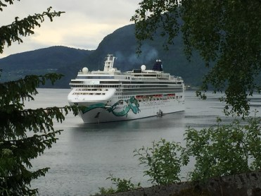 Norwegian cruises Jade cruise ship Norway anchored