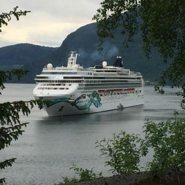 Norwegian cruises Jade cruise ship Norway anchored