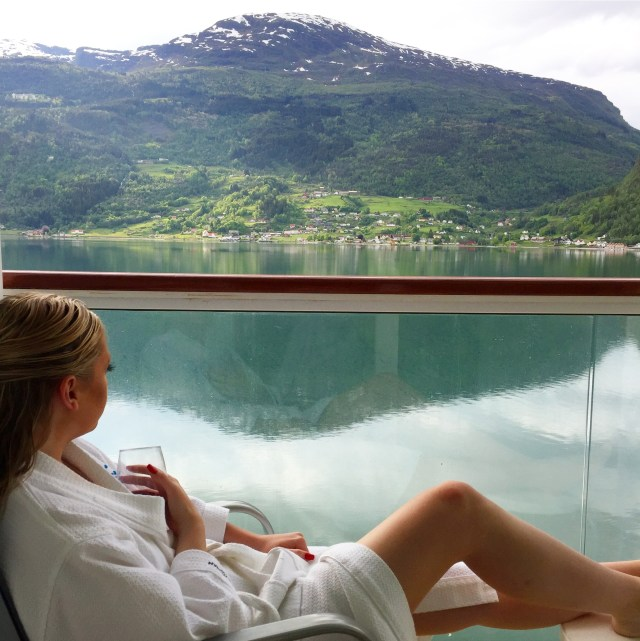 Norwegian cruises Jade cruise ship Norway balcony lounger