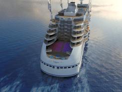 Peaceboat Ecoship cruises aft