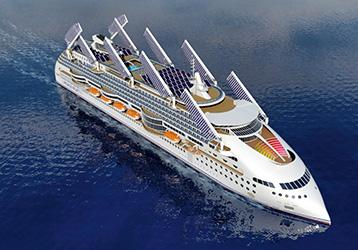 Peaceboat Ecoship cruises top view