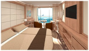 Peaceboat Ecoship cruises cabin