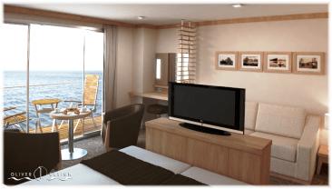 Peaceboat Ecoship cruises cabin desk
