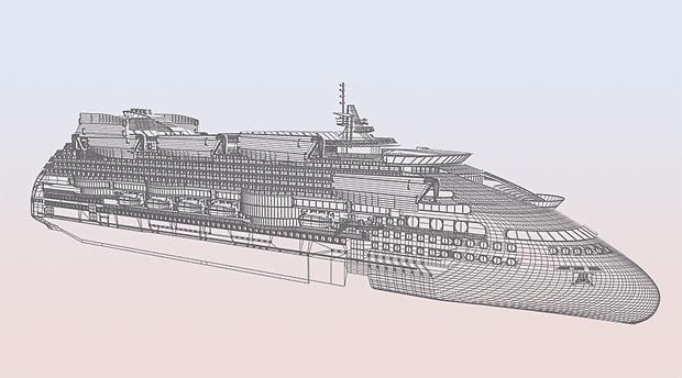Peaceboat Ecoship cruises drawing
