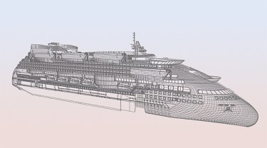 Peaceboat Ecoship cruises drawing