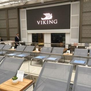 Viking cruises sky cruise ship pool jumbo tv screen