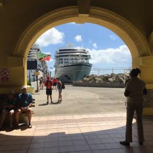 Viking cruises sky cruise ship docked