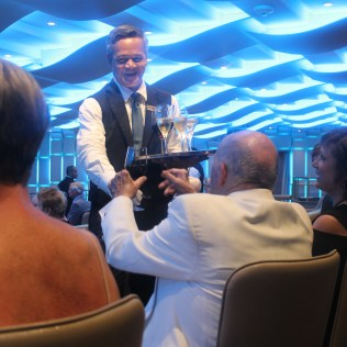 Silversea cruises silver muse cruise ship champagne party
